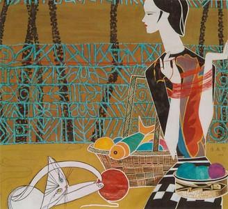 """Homeland"" (acrylic) by Lei Feng"