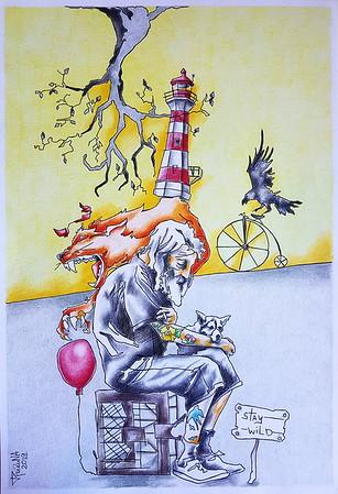 """Real"" (pencil, ink) by Tatjana Gritchina"