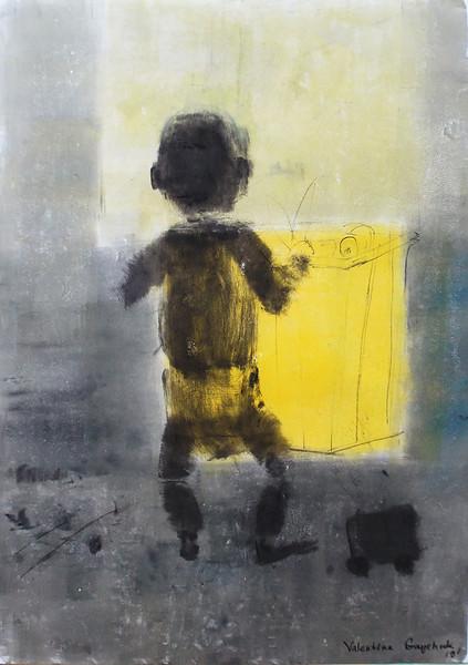 """series ""children"": Treasure"" (intaglio ink, coal) by Valentina Gaychuk"