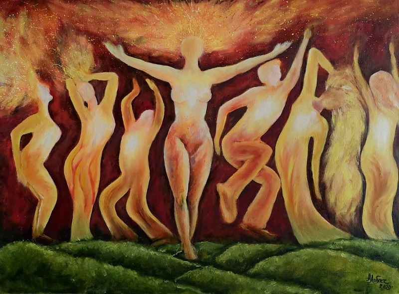 """Dance Of The Sun"" (oil on linen) by Alesia Lobach"