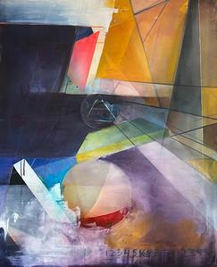 """""""Layers"""" (acrylic, chalk pastel) by Jenna Girolamo"""