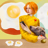 """Yellow Eggs"" (digital illustration) by Barbara Green"