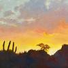 """Desert Sunset"" (oil) by Jolyn Wells-Moran"