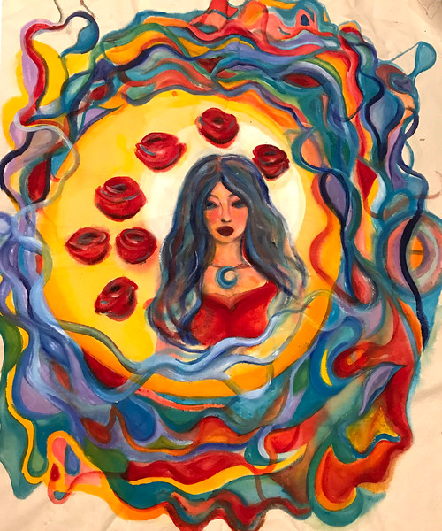 """Aura"" (acrylic on canvas) by Theresa Foti"