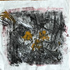 """Daffodils"" (monoprint, oil based ink) by Hali Williams"