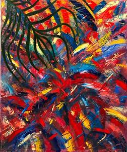 """""""Mushroom rain"""" (oil on canvas) by Olga Baryshnikova"""