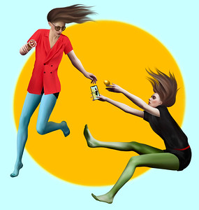 """Yellow World"" (digital illustration) by Barbara Green"
