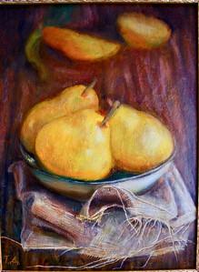"""""""Pears"""" (acrylic and oil on canvas) by Tatiana Davidiuk"""