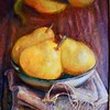"""Pears"" (acrylic and oil on canvas) by Tatiana Davidiuk"