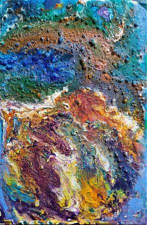 """""""The Earth"""" (mixed media, acrylic on canvas) by Mariana Blinova"""