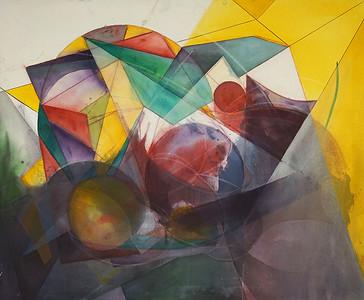 """Find Your Way"" (acrylic, chalk pastel) by Jenna Girolamo"