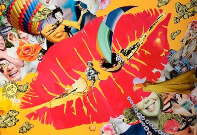 """2d JOY"" (paper collage) by Oleg Grachev"