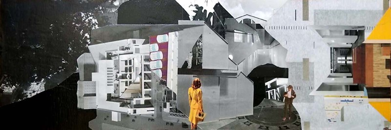 """""""Don't worry. You can't miss her."""" (paper collage) by Kenneth Ricci"""