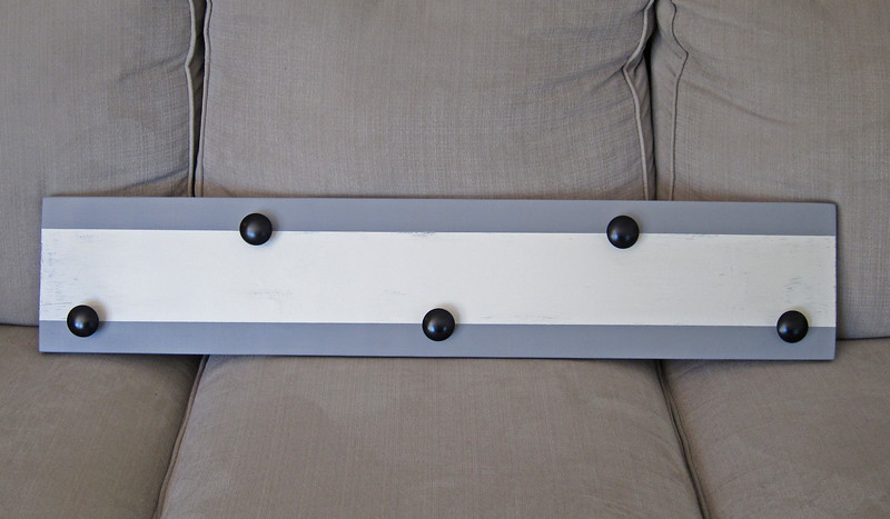 Matching Coat Rack I made for the Gray Bench