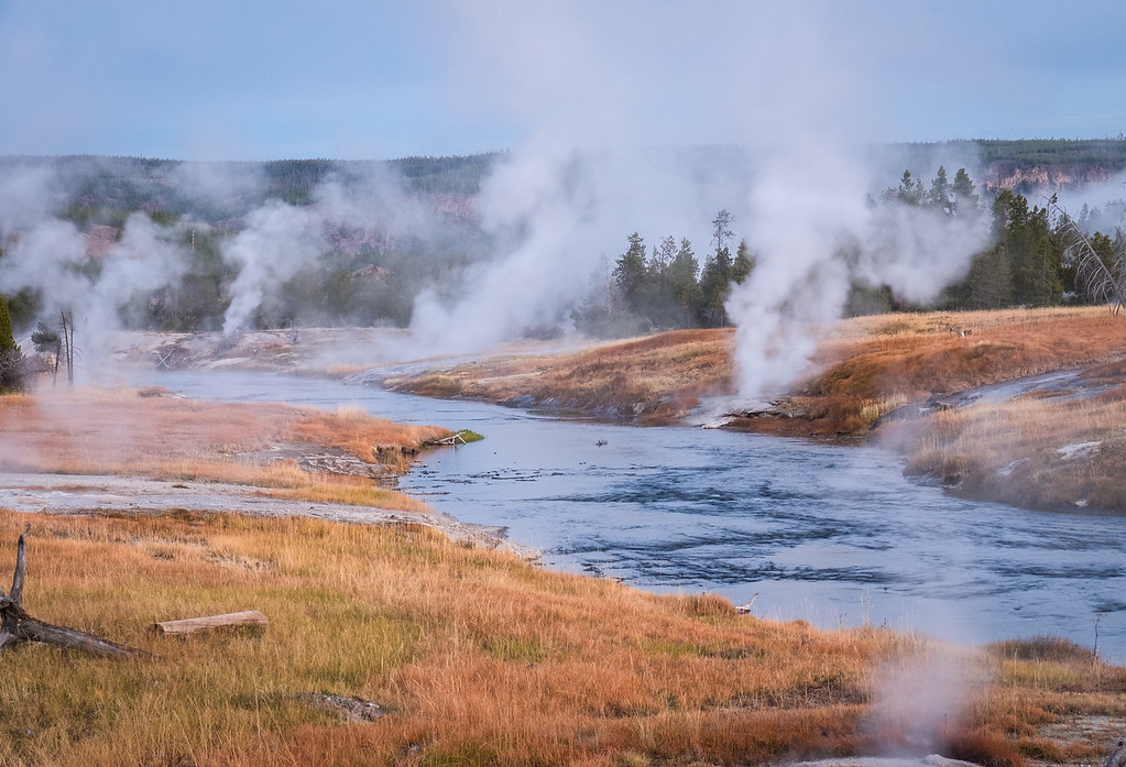 Dawn at the Firehole River