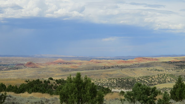 View from dinosaur dig, near Thermopolis, WY.