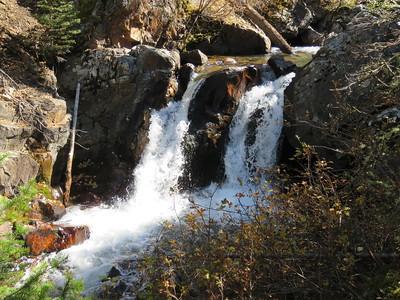 Twin Falls, way up Emigrant Creek, near Chico, Montana