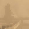 Becky at Mammoth Hot Springs