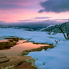 Sunrise at Upper Terrace, Mammoth Hot Springs