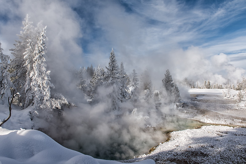 Bluebell Pool- Yellowstone National Park, Wyoming - Mark Gromko - January 2015