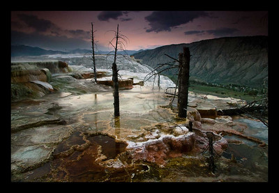 Mammoth Hot Springs - Yellowstone National Park, Wyoming - Andrew Ehrlich - May 2007
