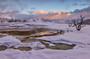 Sunrise at Mammoth Hot Springs - Yellowstone National Park, Wyoming - Mark Gromko - January 2015