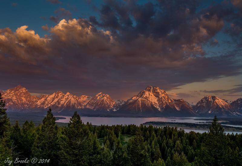 Jackson Lake at Signal Mountain Lodge (HDR Image) - Grand Teton  National Park, Wyoming - Jay Brooks - June 2014