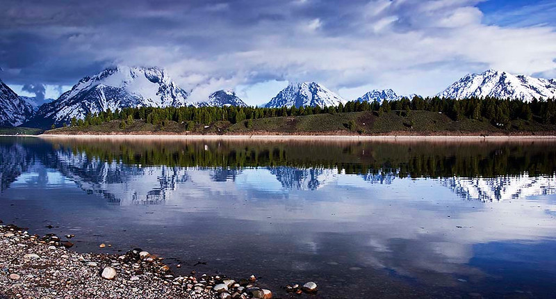 Jackson Lake at Signal Mountain Lodge - Grand Teton & Yellowstone National Parks, Wyoming - Jerry Negele - May 2008
