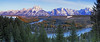 Sunrise on the Tetons from Snake River Overlook - Grand Teton National Park, Wyoming - panoramic (5 vertical images) - Doug Beezley - May 2008