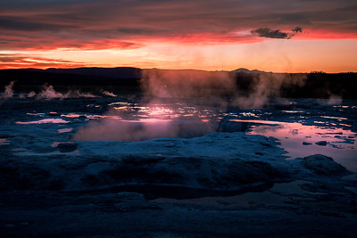Fountain Geyser, Paint Pot Trail, Yellowstone National Park