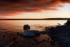 Sunset over Lake Yellowstone with Smoke Clouds from the Arnica Fire - Photo by Cindy Bonish