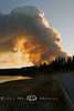 Looking towards Bridge Bay from the edge of the Road - Arnica Fire, Yellowstone National Park - Photo by Cindy Bonish