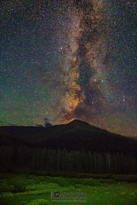 """Skyward,"" Monument Mountain Milky Way, Yellowstone National Park"