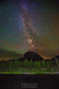 """Black Mirror,"" The Milky Way over Mount Haynes and the Madison River, Yellowstone National Park"