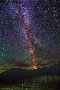 """Night Bliss,"" The Milky Way over Red Mountain, Yellowstone National Park"