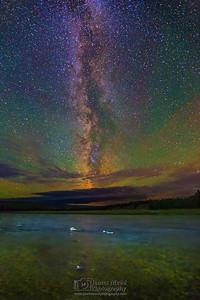 """River of Stars,"" The Milky Way over the Madison River, Yellowstone National Park"