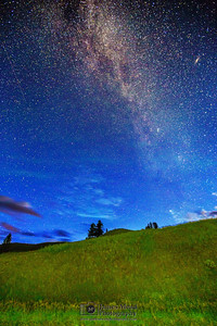 """Paradigm Shift,"" Aurora Milky Way Sunrise, Yellowstone National Park"