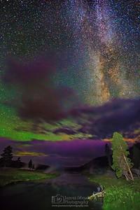 """Smoke and Mirrors,"" Firehole River Milky Way, Yellowstone National Park"