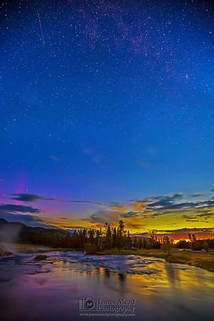 """""""Last Dance, First Light,"""" Firehole River, Yellowstone National Park, Wyoming"""