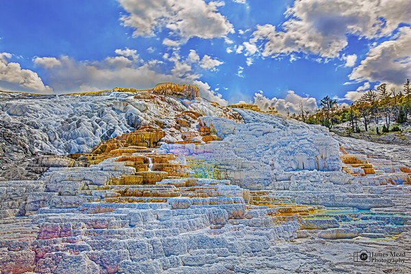 """""""Color Palette,"""" Palette Spring, Yellowstone National Park"""