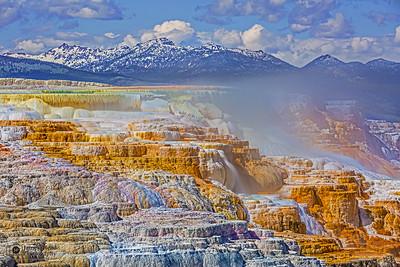 """Canary Terrace,"" Canary Spring, Yellowstone National Park"