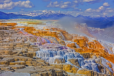 """Canary's Cliffs,"" Canary Spring, Yellowstone National Park"