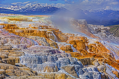 """""""Canary's Color,"""" Canary Spring , Yellowstone National Park"""