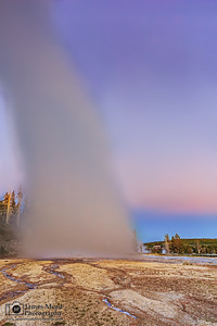 """Vortex,"" Grand Geyser Sunset, Yellowstone National Park, Wyoming"