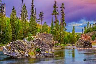 """""""Pastel Firehole Sunrise,"""" Sunrise over the Firehole River, Yellowstone National Park"""