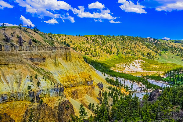 """""""The River's Bend,"""" Calcite Springs, Yellowstone National Park"""