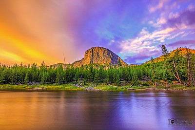 Sunrise over Mount Haynes and the Madison River, Yellowstone National Park
