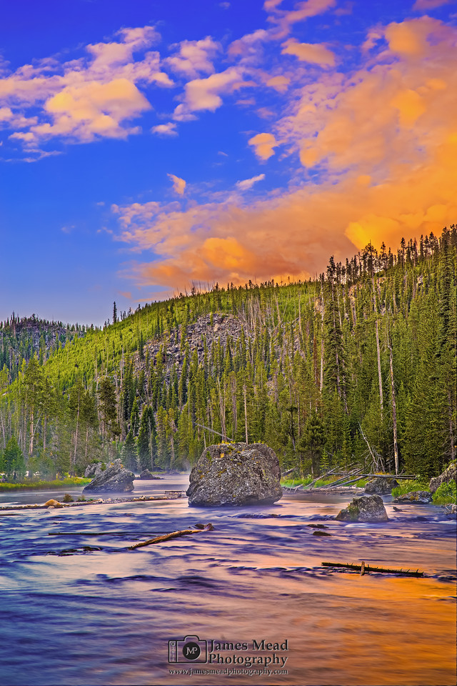 """Firehole Sunrise,"" Yellowstone National Park"