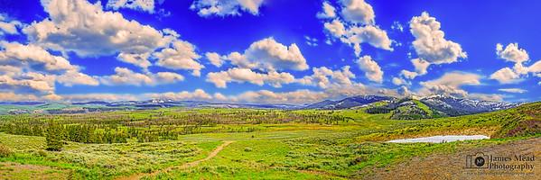 """Antelope Plains,"" Springtime in the Washburn Range, Yellowstone National Park, Wyoming"