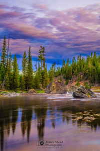 """Firehole Awakening,"" Dawn over the Firehole River, Yellowstone National Park, Wyoming"